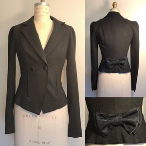 Betsey Johnson Double Breasted Blazer Suit Black